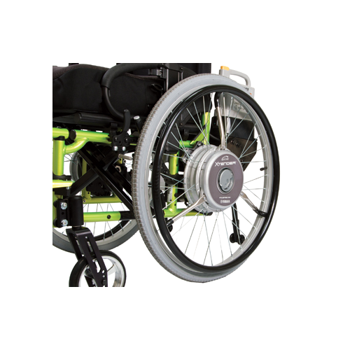 Wheelchair Power Assist - Quickie Xtender - Close View